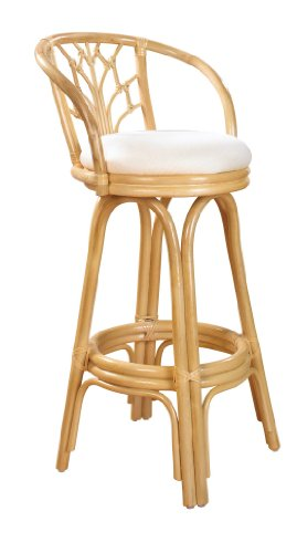 Indoor Swivel Rattan Amp Wicker 30 Bar Stool Natural