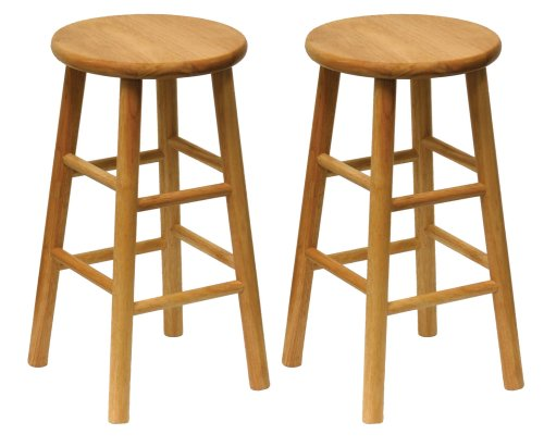 Winsome Wood Wood 24-Inch Counter Stools Set of 2 Natural Finish  sc 1 st  Kitchen Bar Stool Shop & 24Inch | Kitchen Bar Stool Shop islam-shia.org