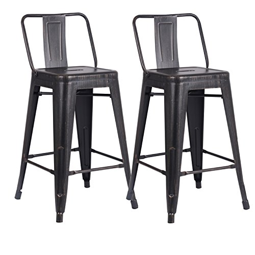 Ac Pacific Modern Industrial Metal Barstool With Bucket