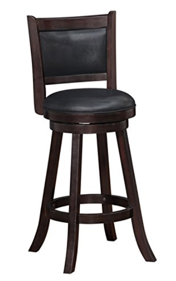 Boraam 66729 Rhea Swivel Bar Stool 29 Inch Hazelnut