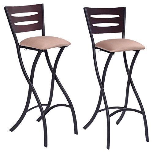 Costway Set Of 2 Folding Counter Bar Stools Bistro Dining  : 51b67dCkn0L from www.kitchenbarstoolshop.com size 500 x 500 jpeg 33kB