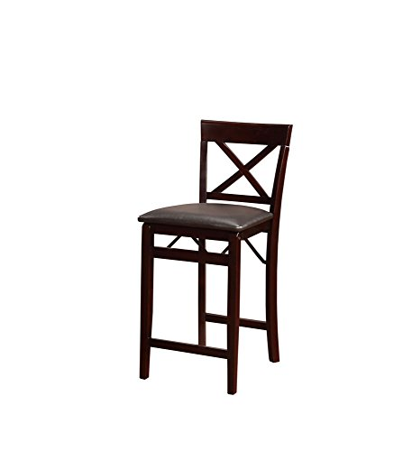 Linon Triena X Back Folding Counter Stool Kitchen Bar