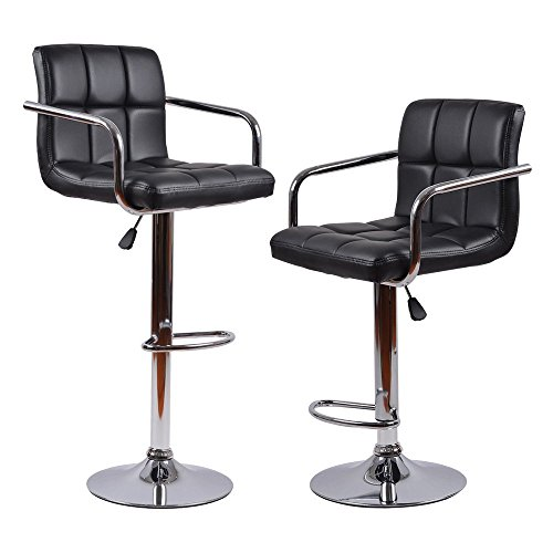Homall Modern Pu Leather Swivel Adjustable Barstools With