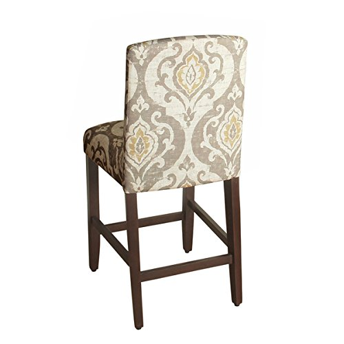 Homepop Suri 24 Inch Counter Height Curved Top Barstool