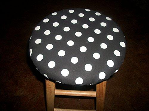 13 Reversible Bar Stool Slip Cover Black Polka Dot To