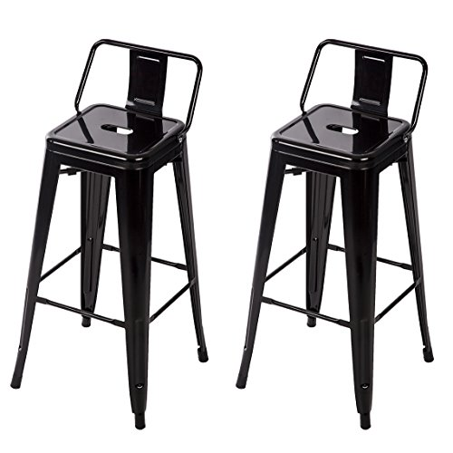 Bestmassage Metal Stools Bar Stools 30 Inch Height Set Of