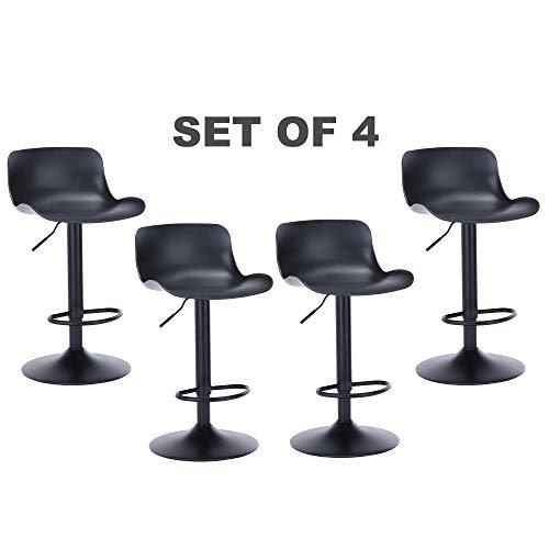 gotminsi height adjustable bar stools set of 4 counter