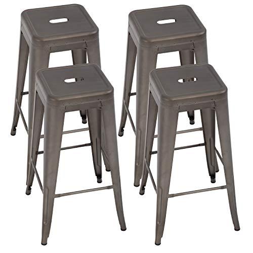 fdw metal bar stools set of 4 counter height barstool 24