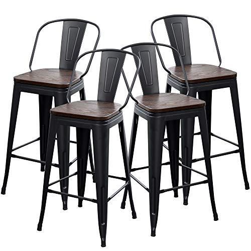 yongqiang metal bar stools set of 4 kitchen stools dining